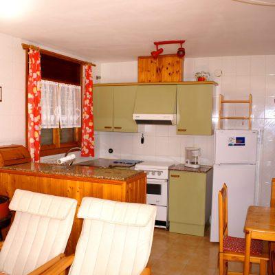 Wohnküche Ferienhaus Casa Äsche