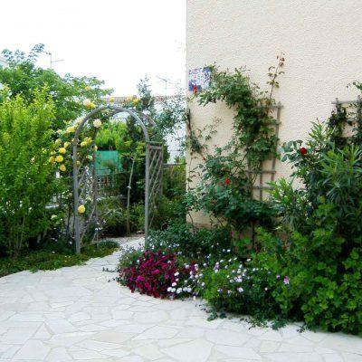 Gartenausschnitt vor dem Haus von Ferienhaus Casa Viva