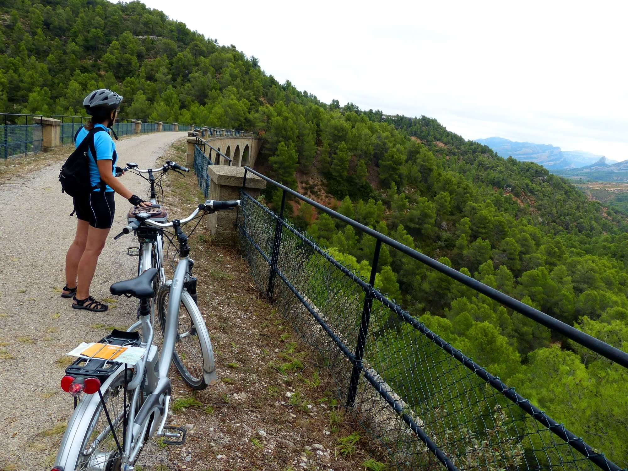 Fahrradweg über ein altes Bahnviadukt